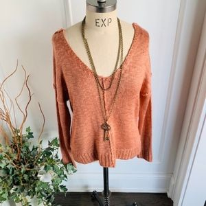 Hippie Rose NWT Women's V-neck Sweater